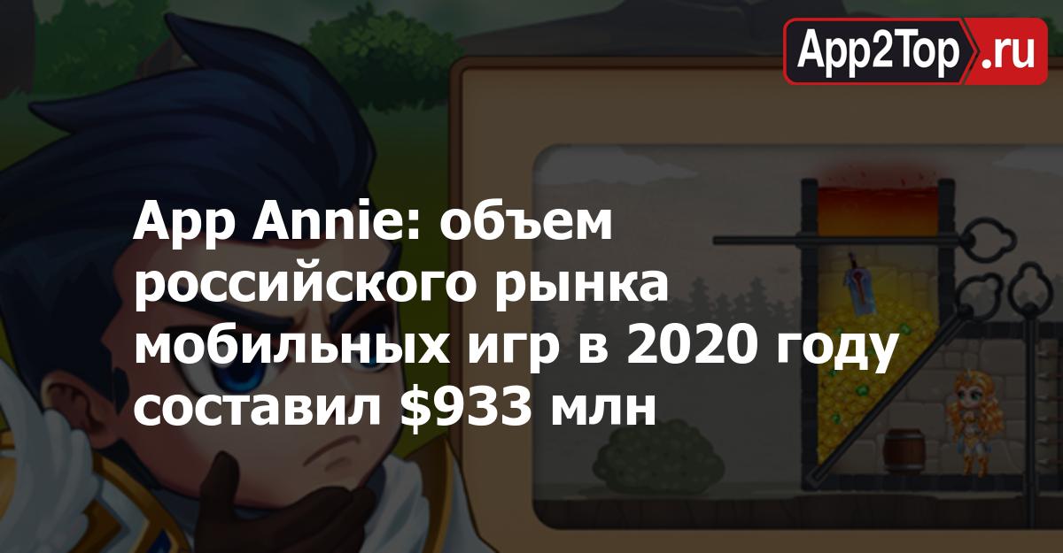 App Annie: объем российского рынка мобильных игр в 2020 году составил $933 млн