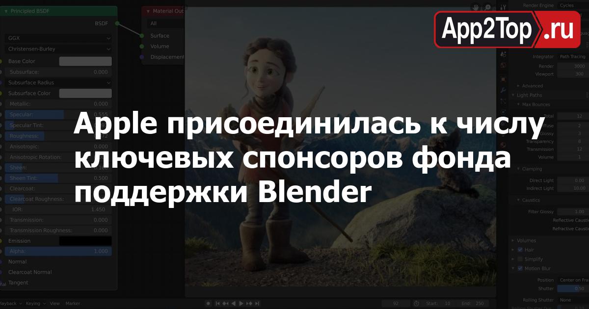 Apple присоединилась к числу ключевых спонсоров фонда поддержки Blender