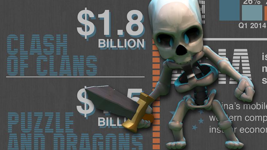 Superdata - Clash of Clans по итогам 2014 года заработает $1,8 млрд