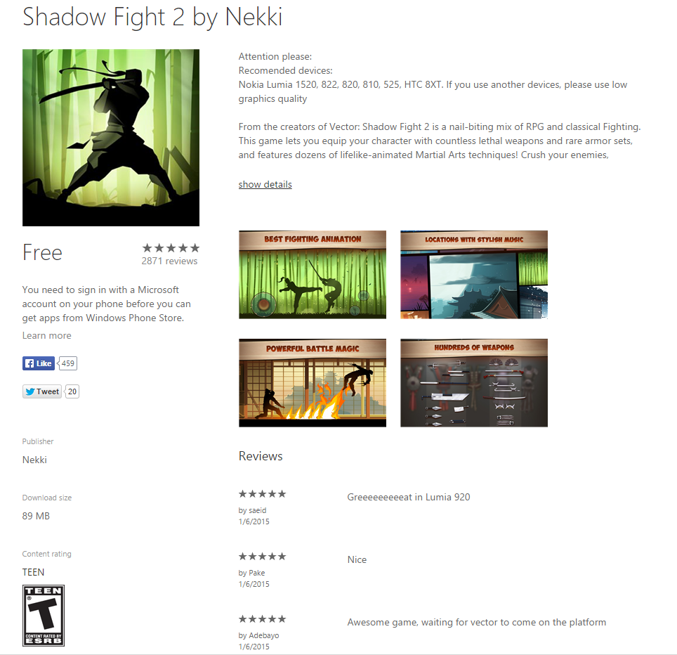 Shadow Fight 2 by Nekki _ Windows Phone Apps+Games Store (United States) - Google Chrome 2015-01-10 21.16.58