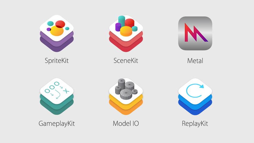 Apple представила три новых фреймворка  для разработки игр
