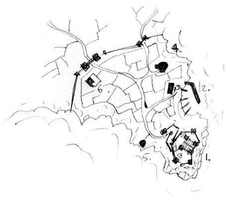 How to draw towns - minor roads
