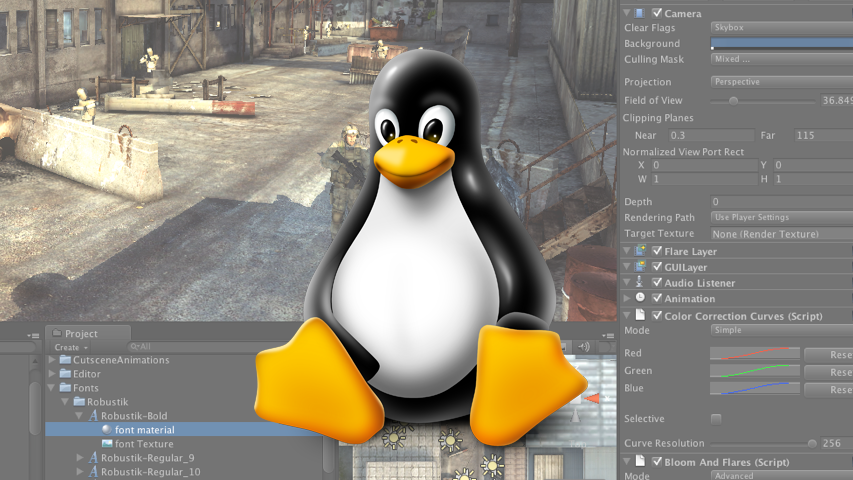 Unity выпустила экспериментальный билд своего редактора под Linux
