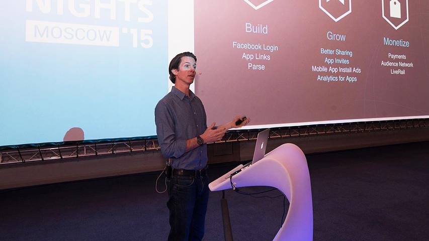 White Nights Moscow 2015 - доклад Facebook о том, как сделать игры с помощью социальной сети лучше
