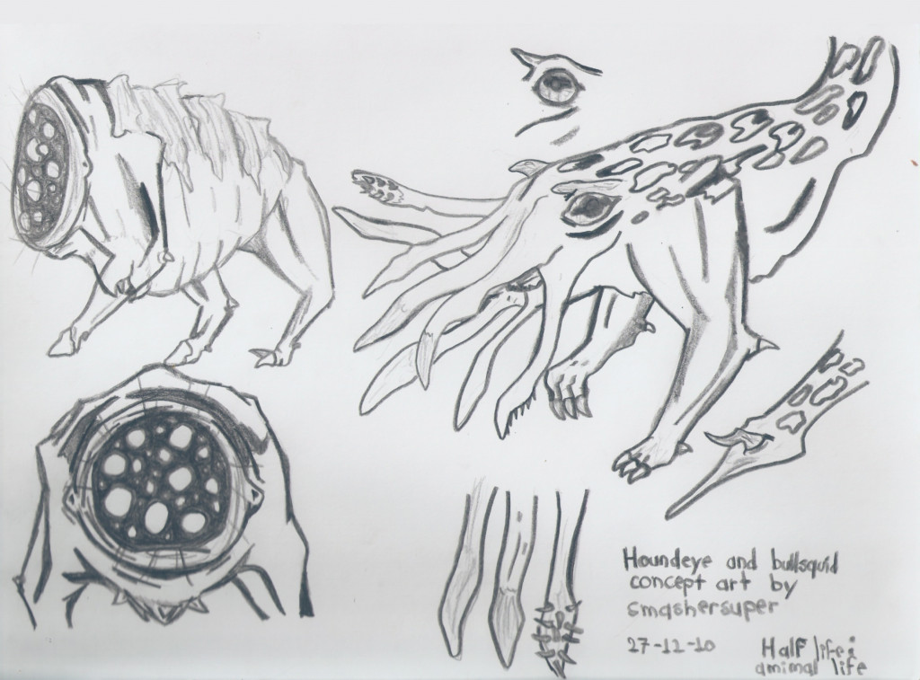 bullsquid_and_houndeye_concept_art