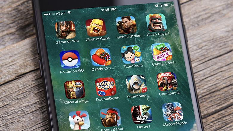 Доходы мобильных игр выросли за год на