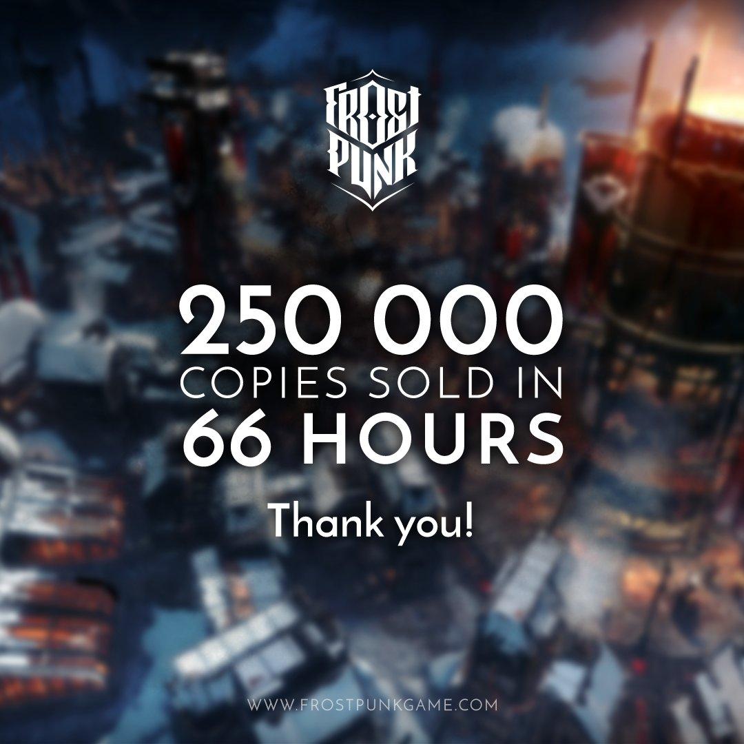 Стратегию Frostpunk приобрели 250 тыс. игроков