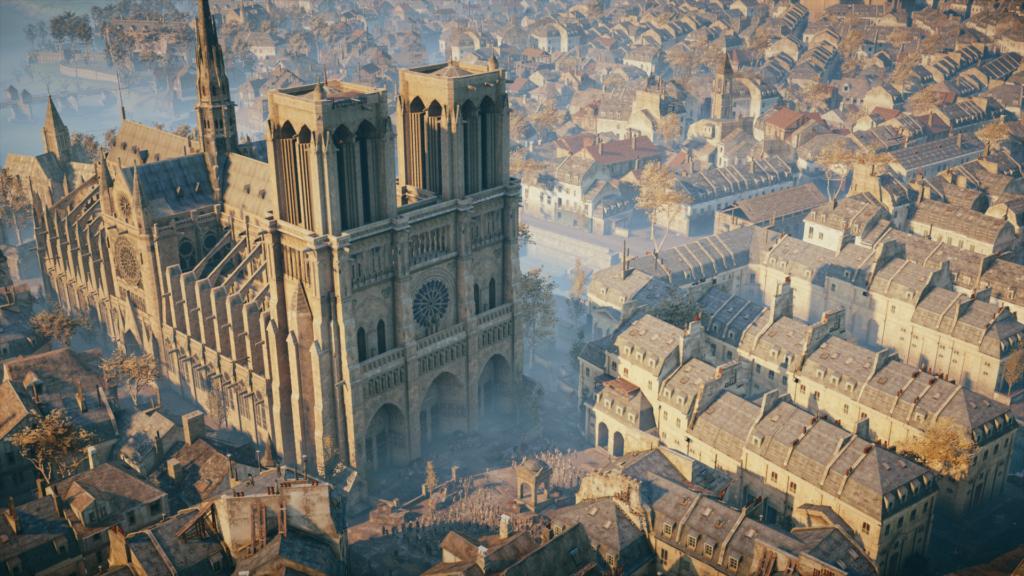 Восстановить Нотр-Дам несомненно поможет  модель храма  изAssassin's Creed: Unity